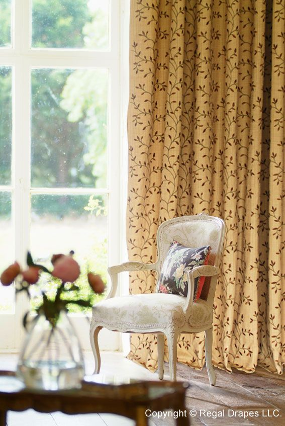 Embroidered Drapery Collection Regal Drapes Living Room Home
