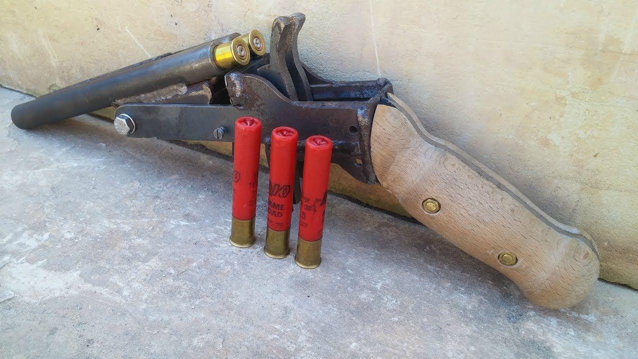 Homemade Double Barrel 410 Pistol Shotgun step by step build Part 4
