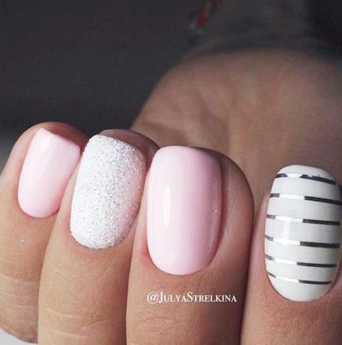 29 Ιδέες manicure σε άσπρο ροζ για την άνοιξηκαλοκαίρι