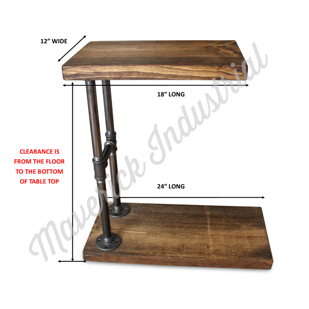 Industrial C Table Side Table Sofa Table Diy Sofa Table Vintage Industrial Furniture Furniture Projects