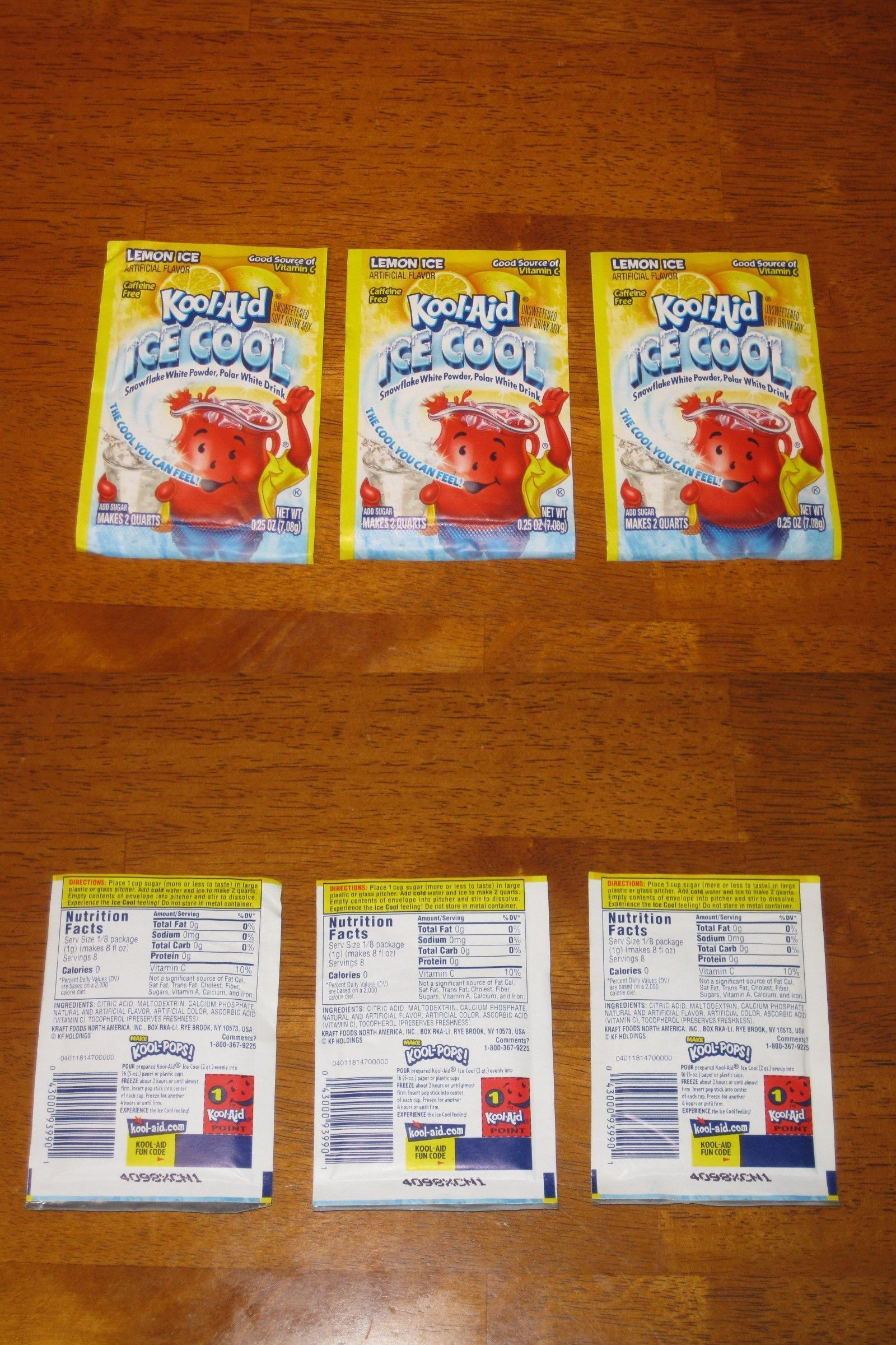 Drink Mixes 179192 Lemon Ice Kool Aid Rare Htf 3 Packets Expired Collectible Buy It Now Only 14 99 On Ebay Kool Aid Mixed Drinks Nutrition Facts
