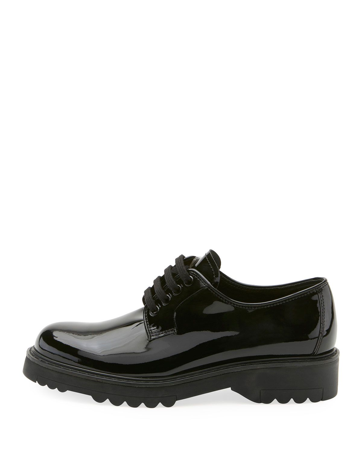 1687c6d12b Prada Patent Lace-Up Platform Oxford | Products | Oxford platform ...