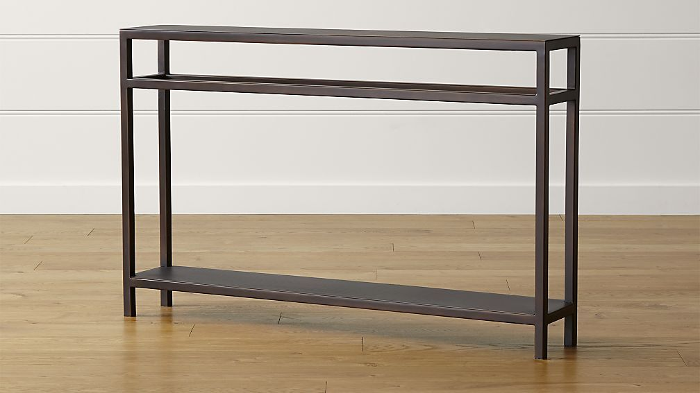 Echelon Narrow Console Table Reviews Crate And Barrel Narrow Console Table Console Furniture Steel Console Table