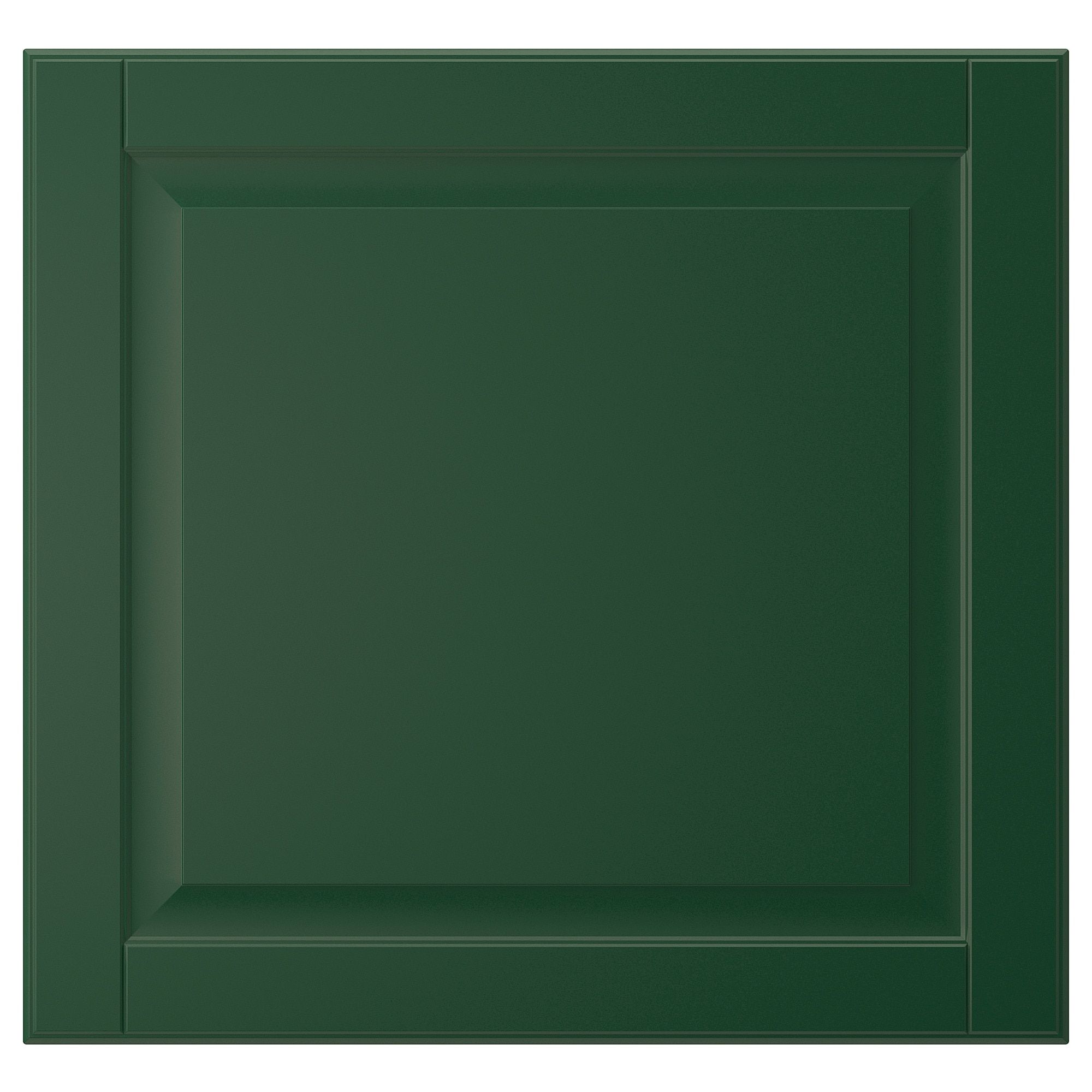 IKEA BODBYN Dark Green Door #darkgreenkitchen