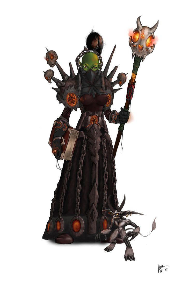 Female Orc Magic Wow Female Orc Female Fantasy Races