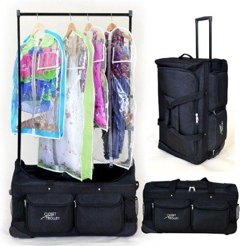 The Closet Trolley Rolling Duffel Black Dance Compeion Bag