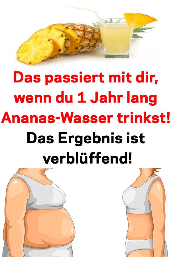 Ananaswasser für schnellen Gewichtsverlust