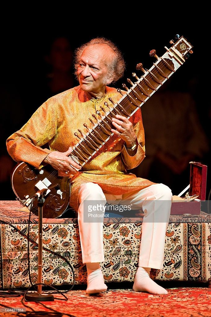 Ravi Shankar performing at the Barbican Centre, London on 4th June 2008 during his Final Tour of Europe. - Non- exclusive.