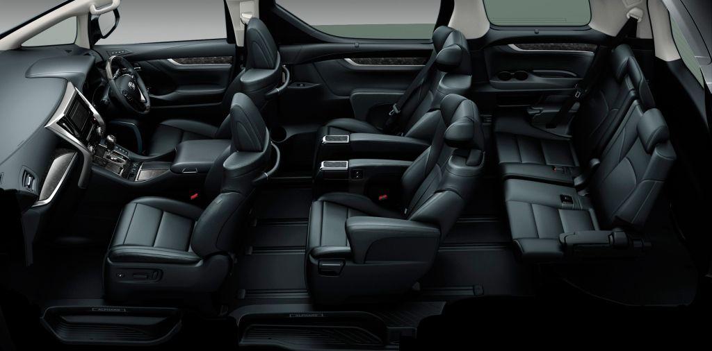Toyota Vellfire dari dalam (Interior)