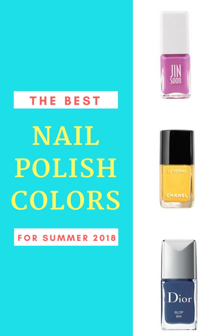 Die besten Nagellackfarben für den Sommer 2018