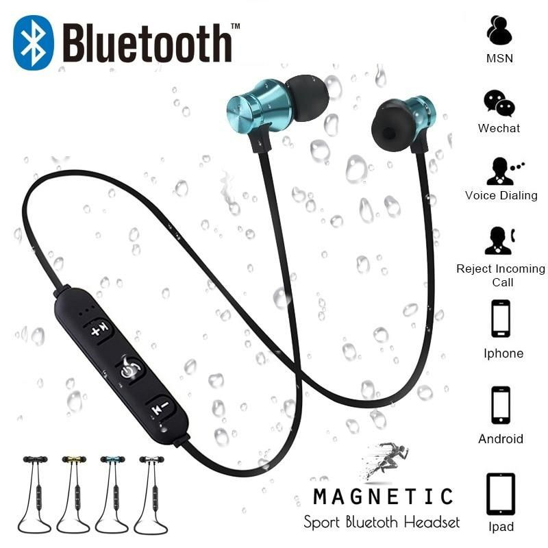 Magnetic Attraction Bluetooth Earphone Headset Sweatproof Sports 4 2 With Charging Cable Young Earphone Build In Mic Wireless Headset Headphones Earphone