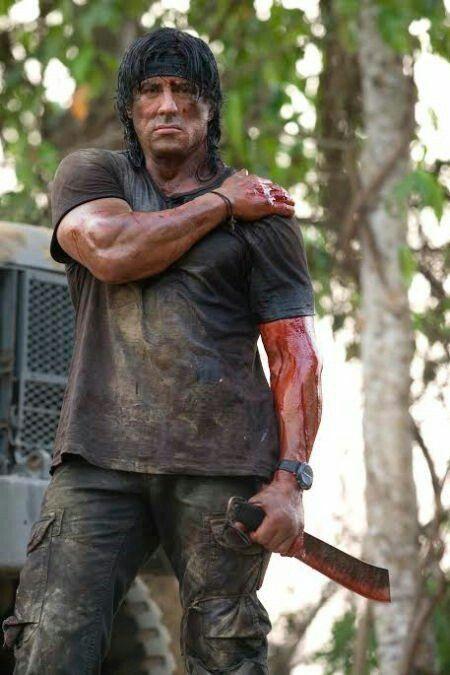 Stallone as John Rambo | Sylvester stallone rambo ...