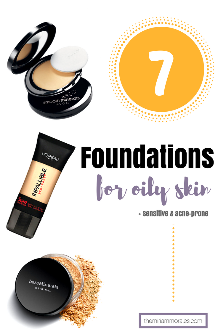The best foundation for oily, sensitive or acneprone skin