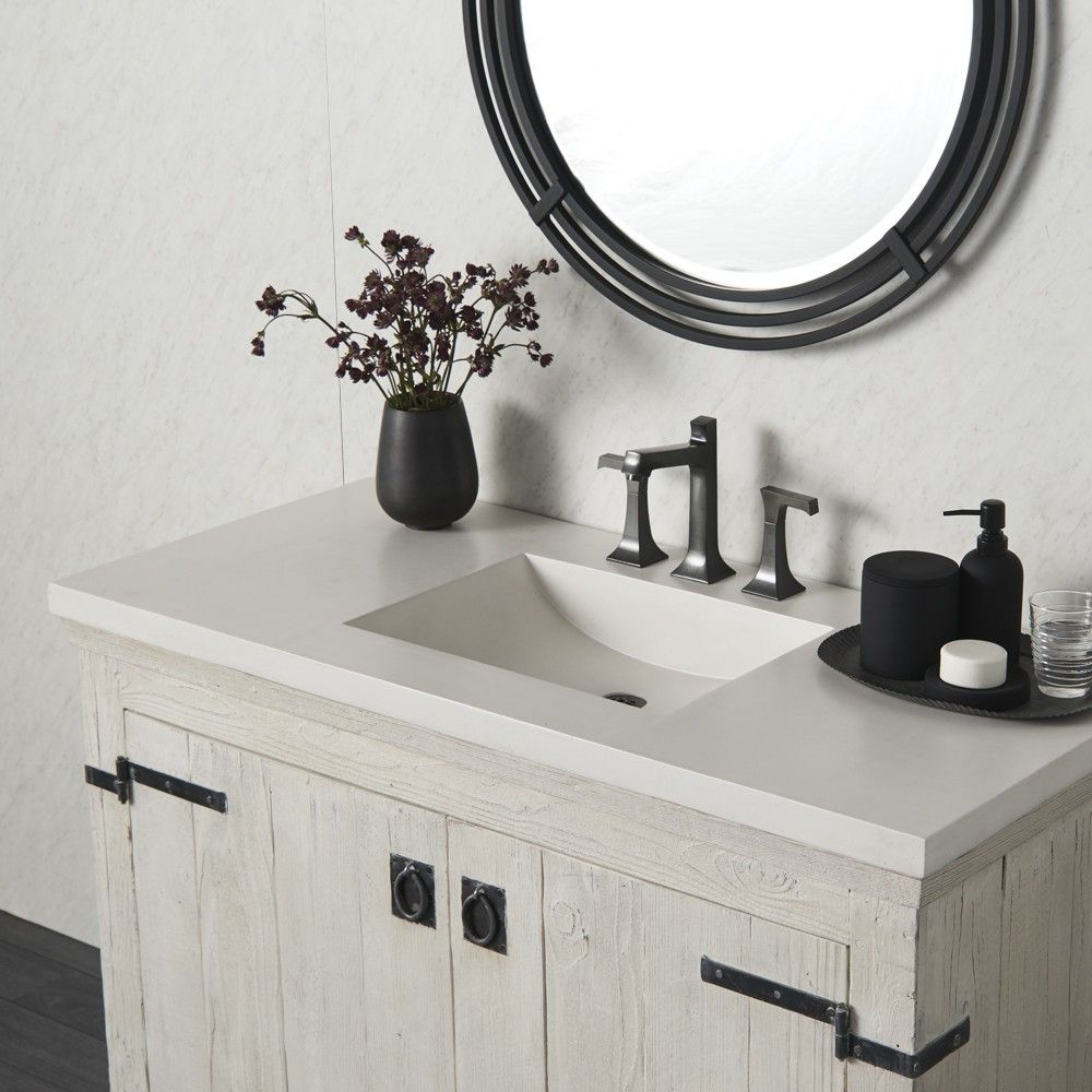 Palomar Concrete Vanity Top With Integrated Sink With Images