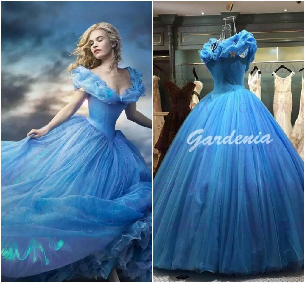 2019 Blue Cinderella Wedding Dress - Wedding Dresses for the Mature ...
