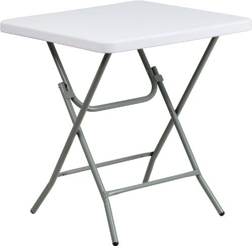 Flash Furniture Square Granite White Plastic Folding Table 27