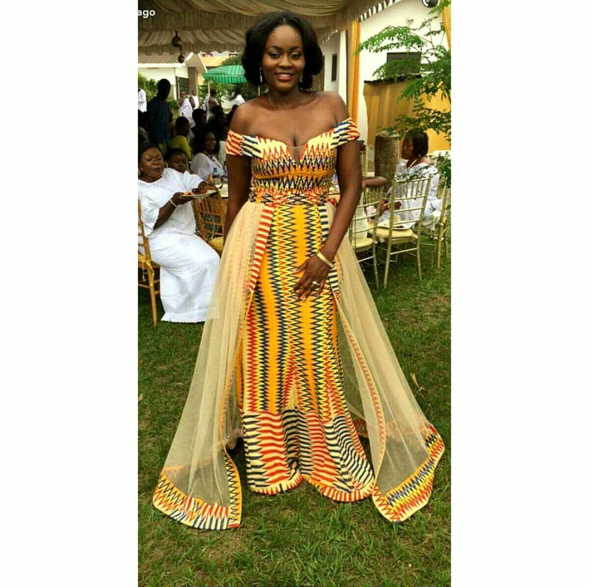 Kente Wedding Gowns: African Traditional Wedding Dress