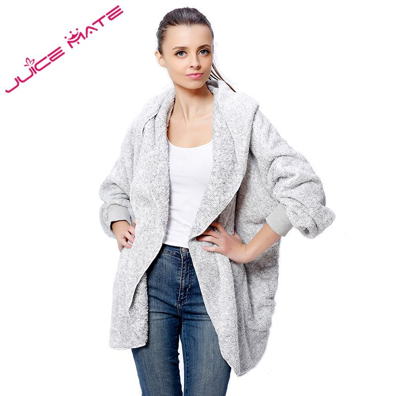 2017 Fashion Oversized Fleece Cardigan Women Two-Tone Poncho Capes ...