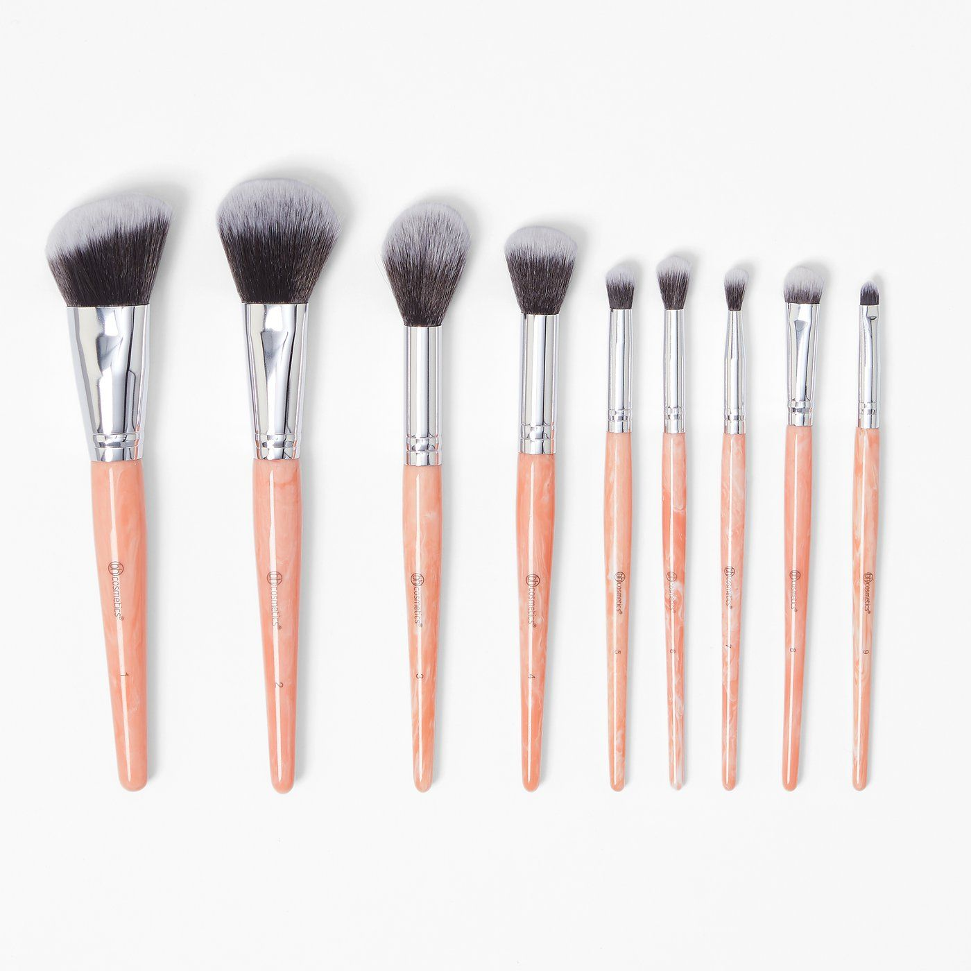 Rose Quartz Makeup brush set, It cosmetics brushes