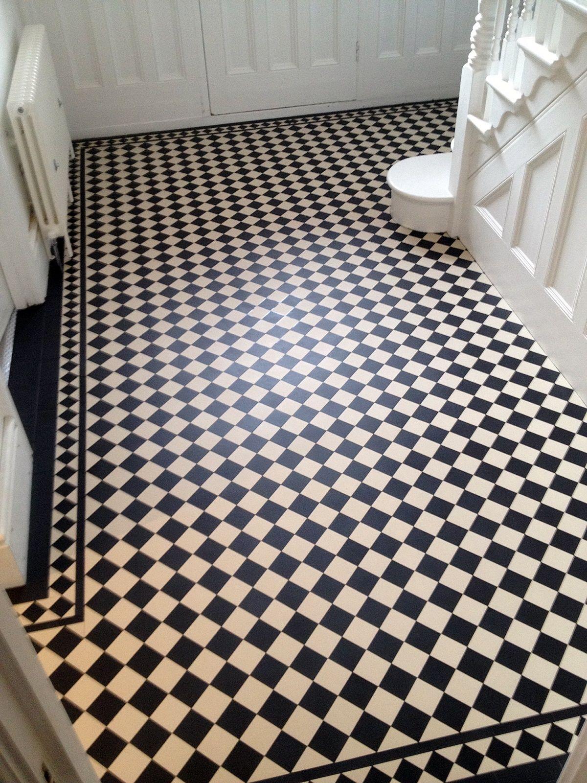 Victorian Black And White Hallway Tile Mosaic Floor Balham Clapham
