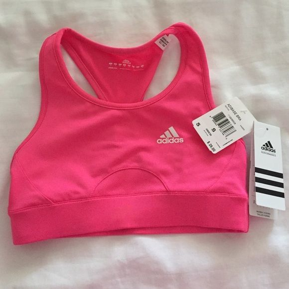 d1f45accc2223 NWT Adidas Hot Pink Sport Bra Train easy knowing your sports bra is working  hard. Medium support. Climacool technology keeps you dry and cool.