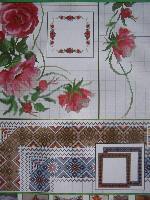 Uz 7 Cross Stitch Ukrainian Embroidery Flower Patterns Tablecloth Pillow Napkin Embroidery Flowers Pattern Cross Stitch Patterns Flowers Cross Stitch Flowers