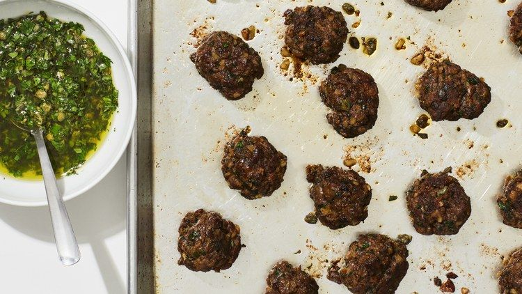 These Crispy Meatballs Are My New Weeknight Secret Weapon Meatballs Ground Beef Recipes Meatball Recipes