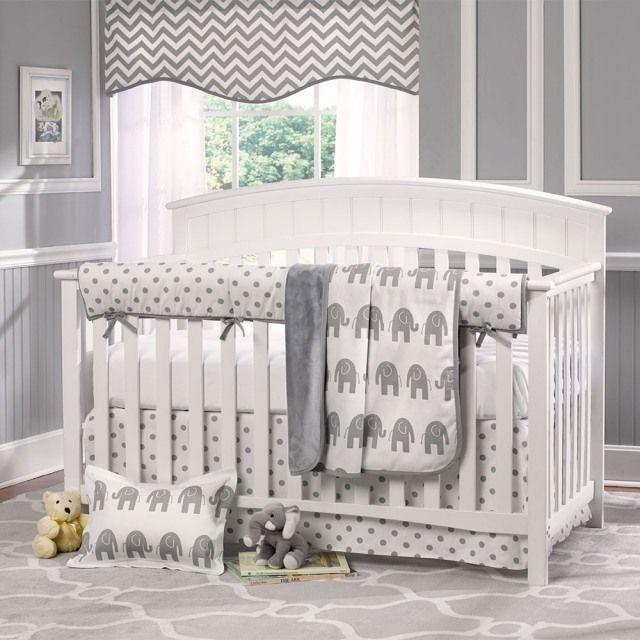 Kinderzimmer deko junge grau  babyzimmer nautral motto elephanten farben weiß grau Babyzimmer ...