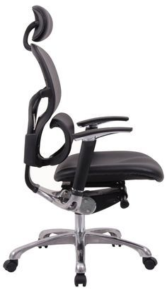 Wave Ergonomic Leather Chair With Headrest
