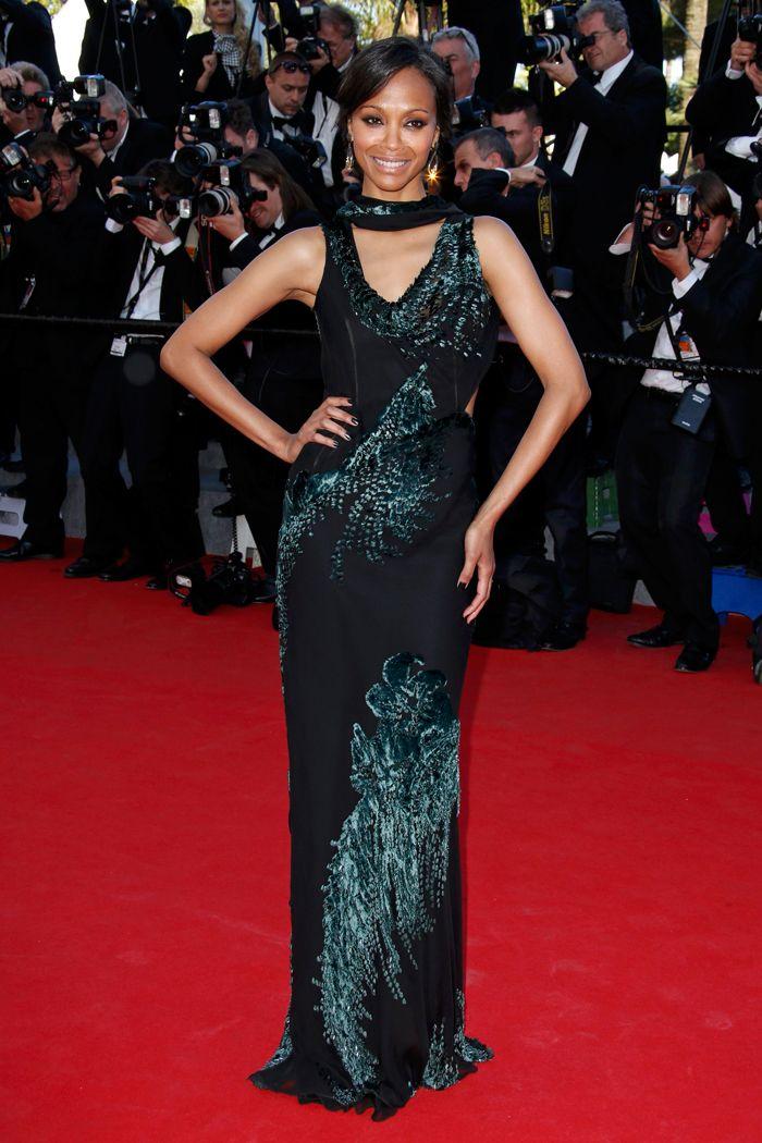 Abito di #JasonWu indossato da #ZoeSaldana #Cannes2014