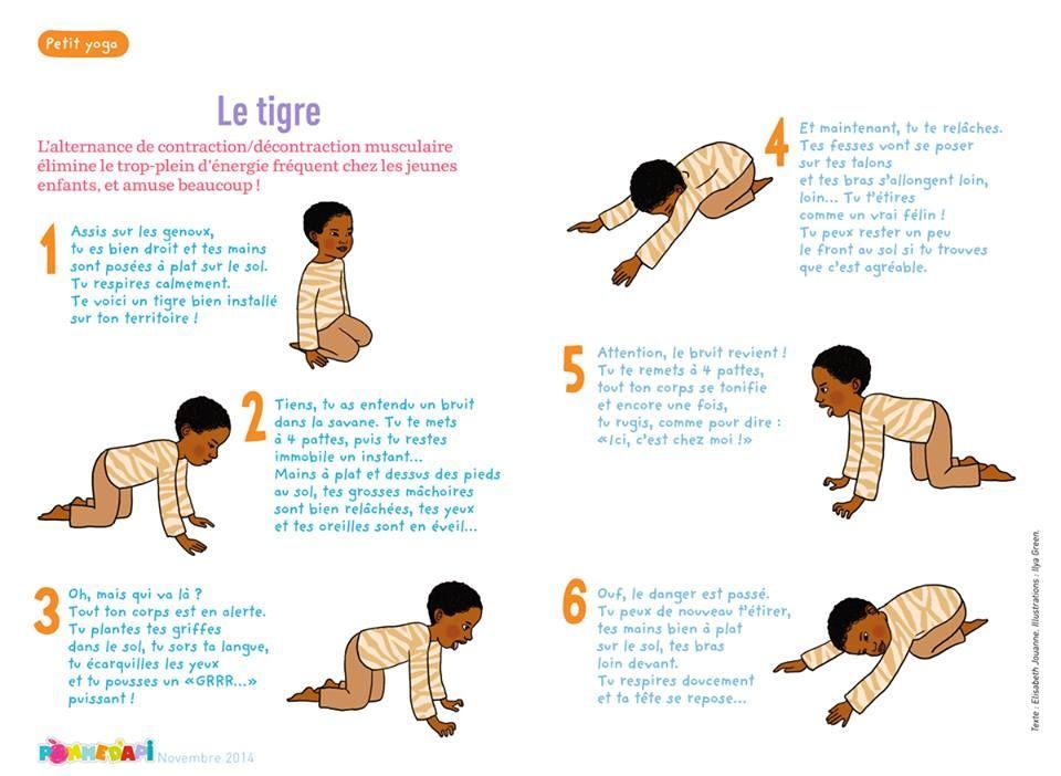 """Résultat de recherche d'images pour """"le tigre yoga des enfant youtube BayaM"""""""