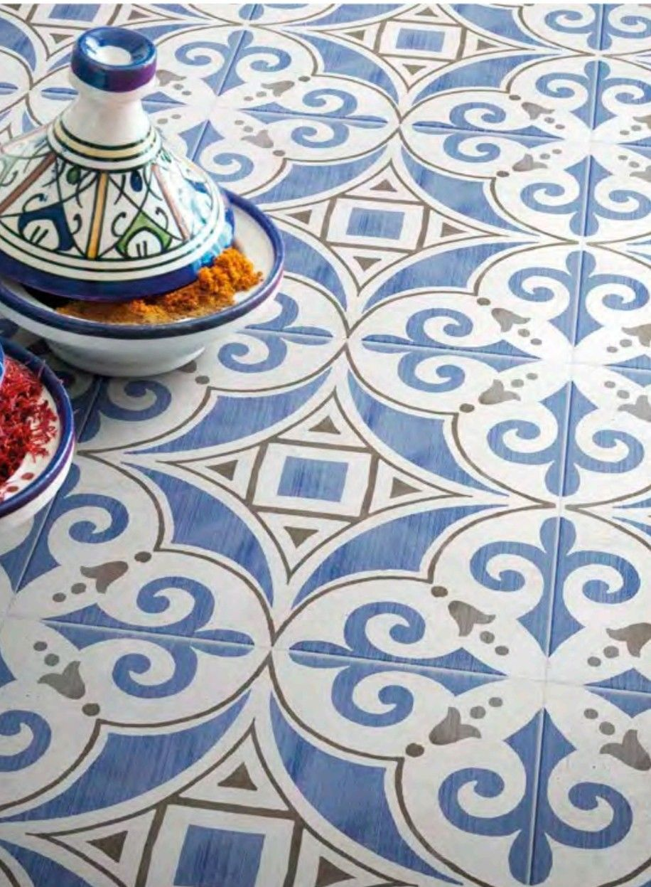 Xclusive Ceramica Paint Tile Cardinali Blue And White Patterned Tile