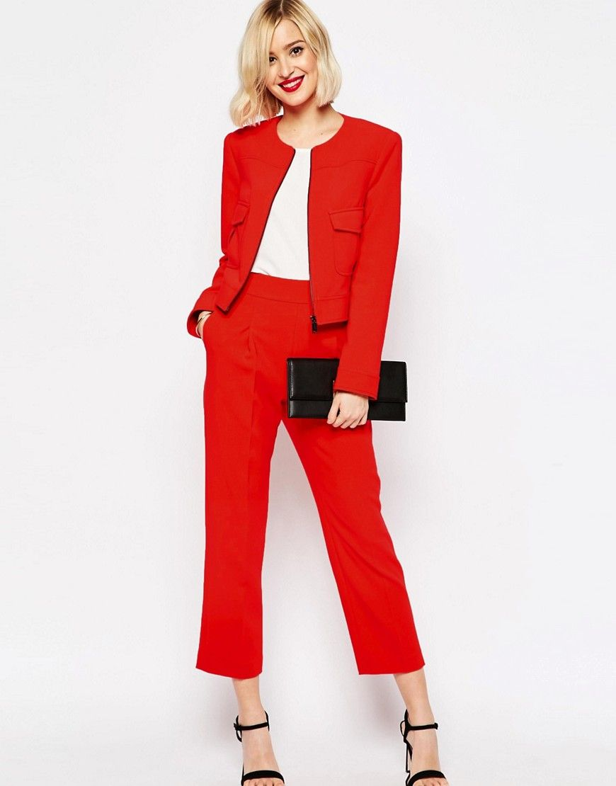 Image 4 of ASOS Occasion Cropped Blazer Co-ord