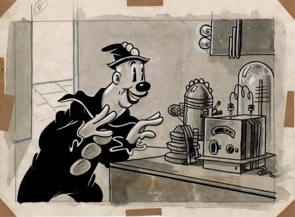 Koko The Clown Space Cop Max Fleischer Storyboards Max Fleischer