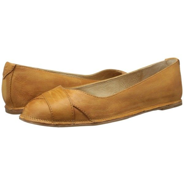 Frye Ember Cross Ballet (Camel Sunwash Nubuck) Women's Flat Shoes (1.338.015
