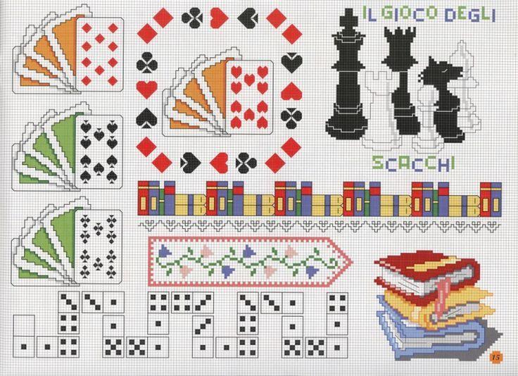 Resultado de imagen para punto de cruz de cartas de poker | Patrones ...