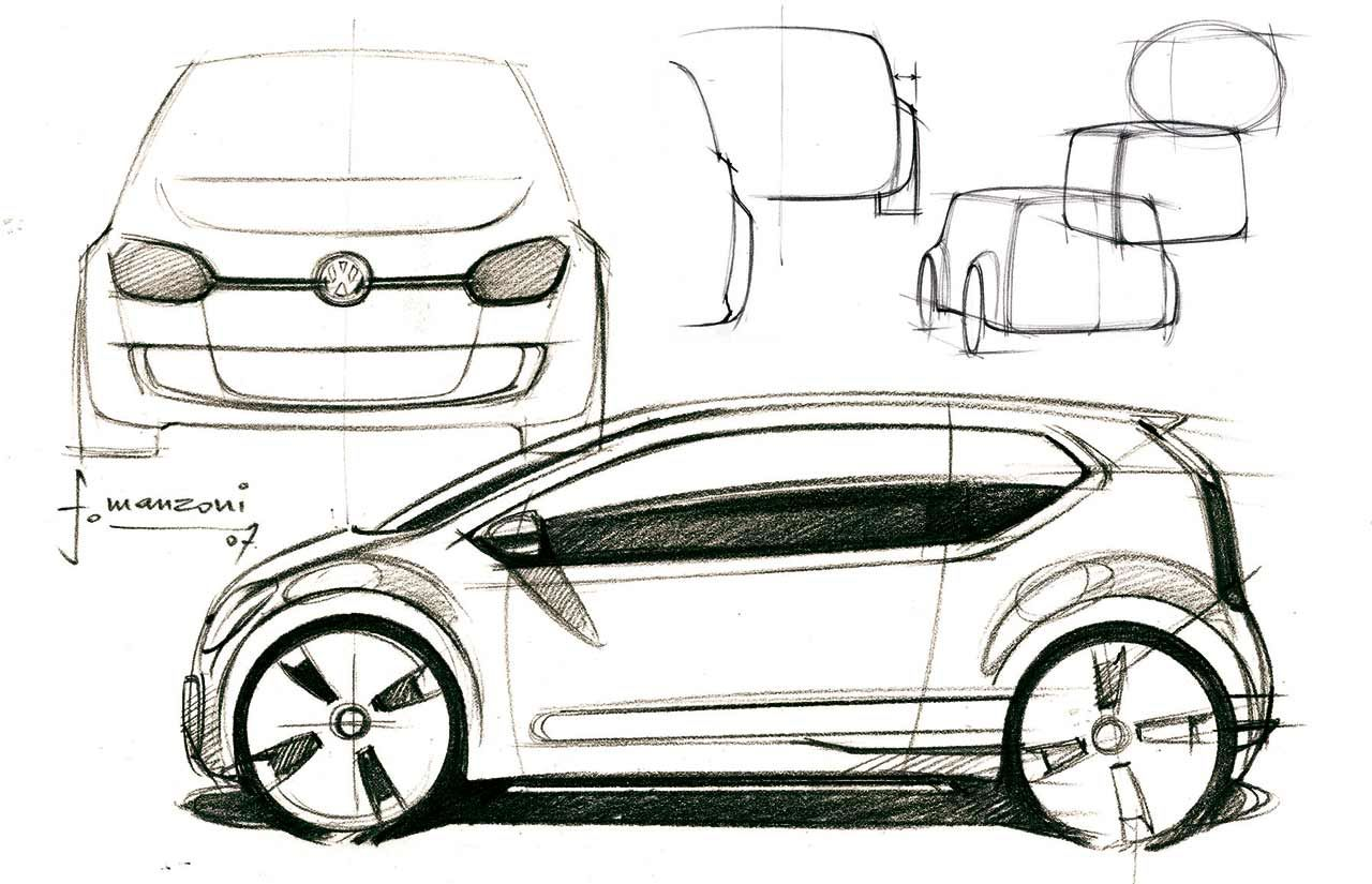 vw up concept design sketch sketches. Black Bedroom Furniture Sets. Home Design Ideas