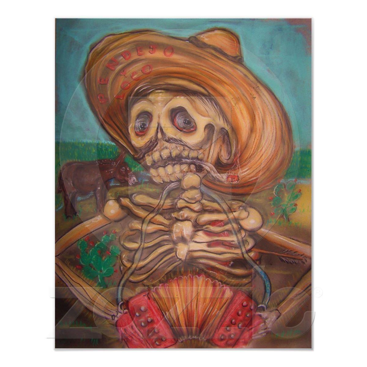 skeleton playing accordion to donkey print from zazzle com