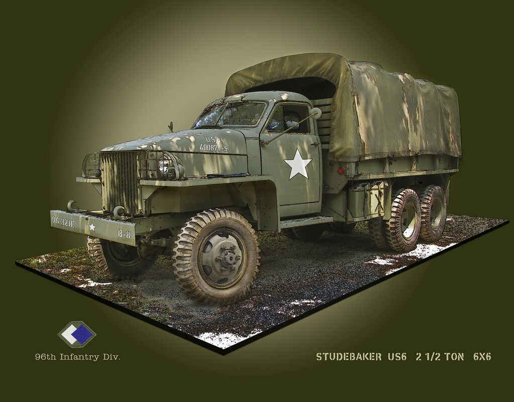 Studebaker 2 1 2 Ton Us6 6x6 Army Truck Studebaker Army Vehicles