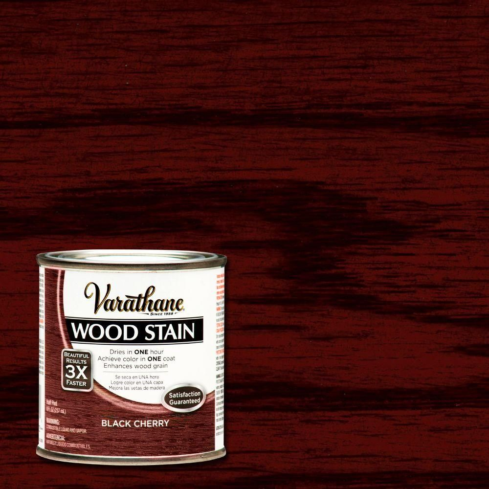 Varathane 1 2 Pt Black Cherry Wood Stain 266197 The Home Depot Staining Wood Black Cherry Wood Cherry Wood Stain