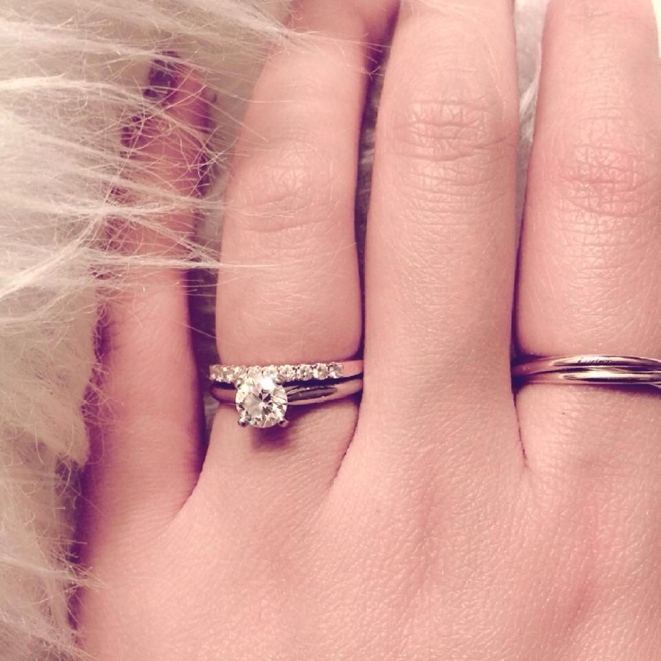 Rose gold with platinum set. Cartier trinity ring. | My vera wang ...