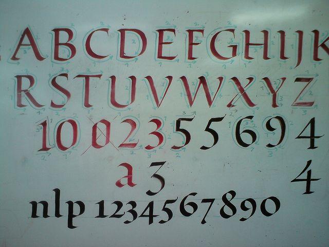 Broad pen roman caps ductus calligraphy pinterest roman