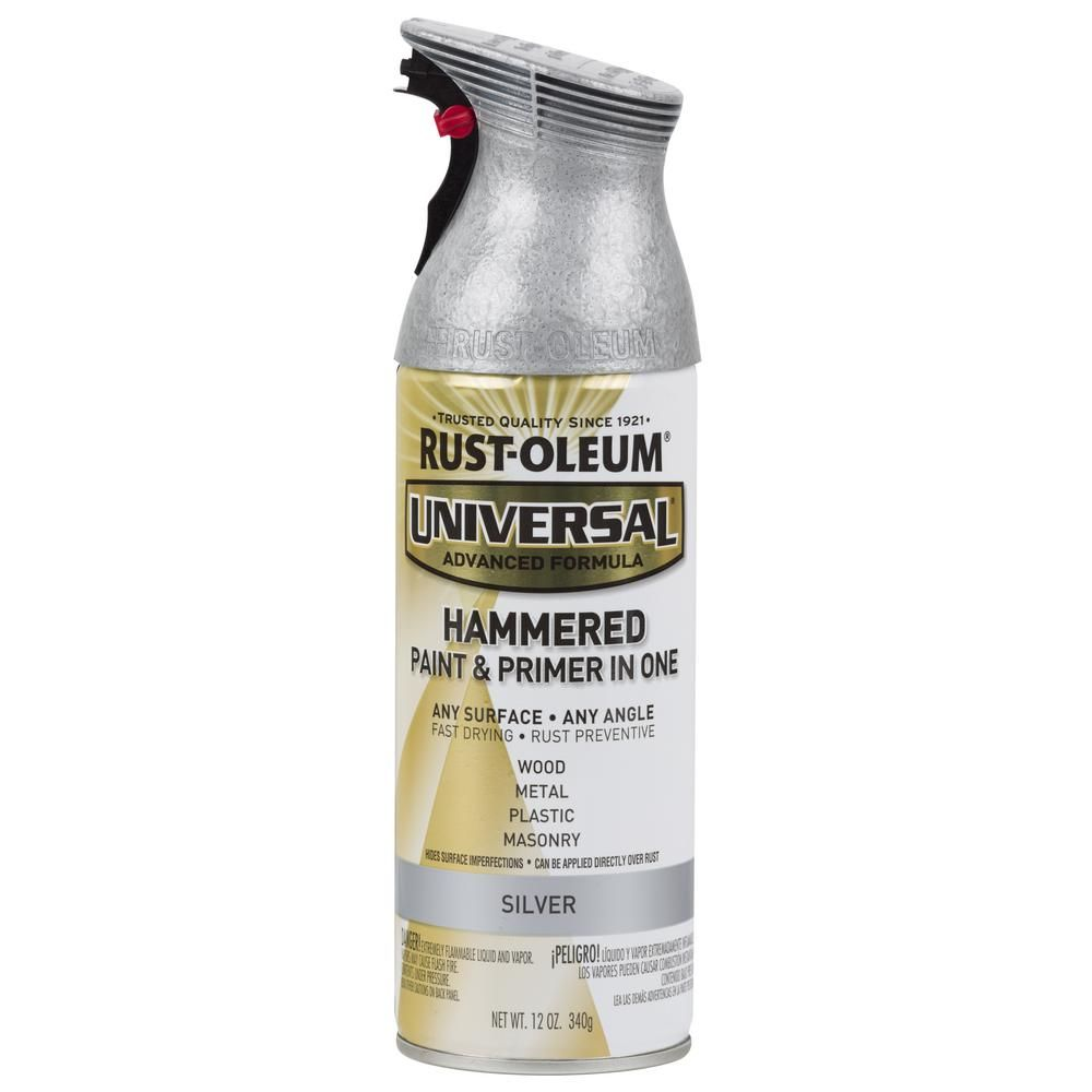 Rust Oleum Universal 12 Oz All Surface Hammered Silver Spray Paint And Primer In One 6 Pack Gold Spray Paint Metallic Spray Paint Silver Spray Paint