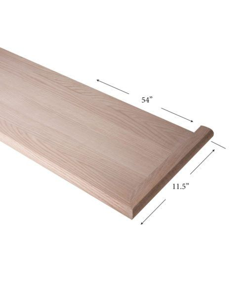 8070 Mr 54 Mitered Return Right Hand Mitered Wood Stair Treads Wood Staircase