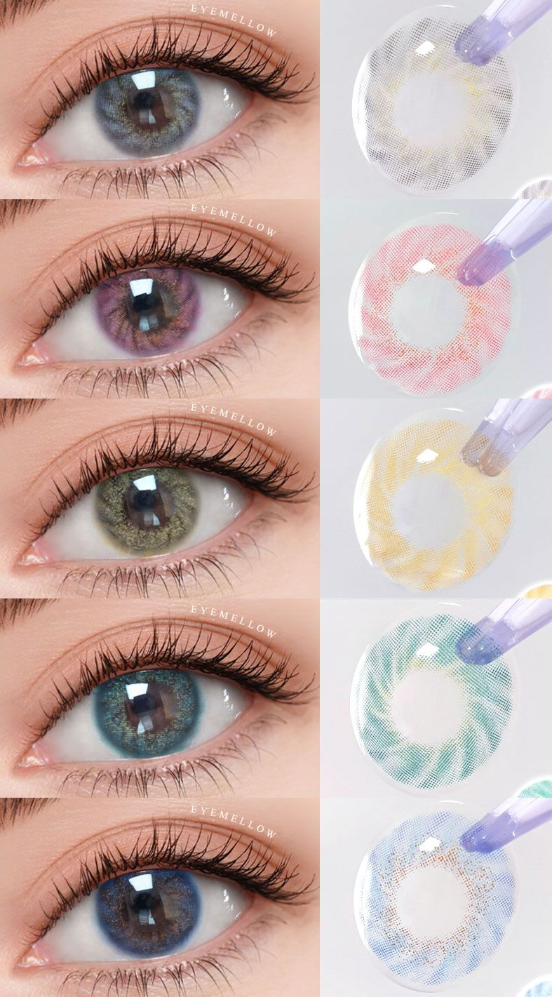 Lollipop 5colors In 2020 Best Colored Contacts Colored Contacts Prescription Colored Contacts
