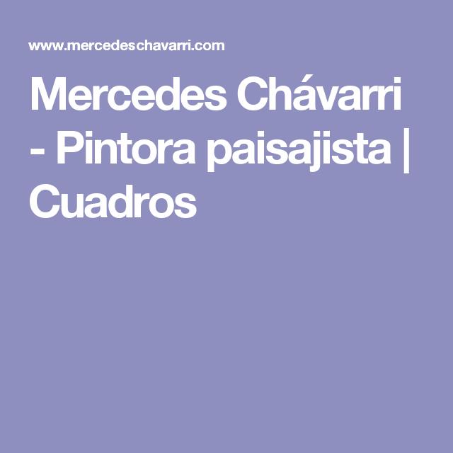 Mercedes Chávarri - Pintora paisajista | Cuadros