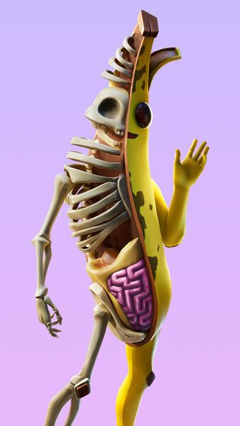Peely Bone Fortnite Outfit Skin 4k Hd Mobile Smartphone And Pc