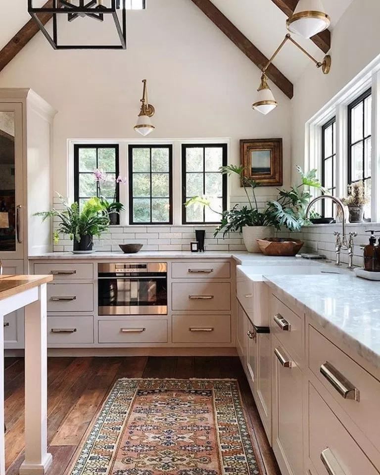 ✔92 stunning black white wood kitchen decor ideas 12 » Interior Design #kitchendecor