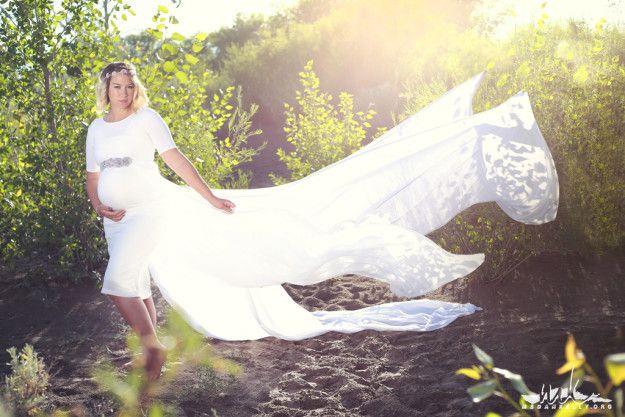 Maternity Long Dress In Water | Megan Kelly Photodesign (shared via SlingPic)
