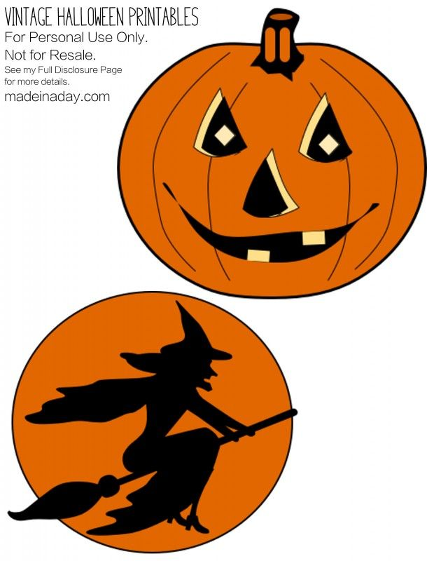 Vintage Halloween Printables Pumpkin | halloween | Pinterest ...